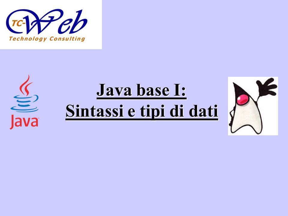 Java base I: Sintassi e tipi di dati