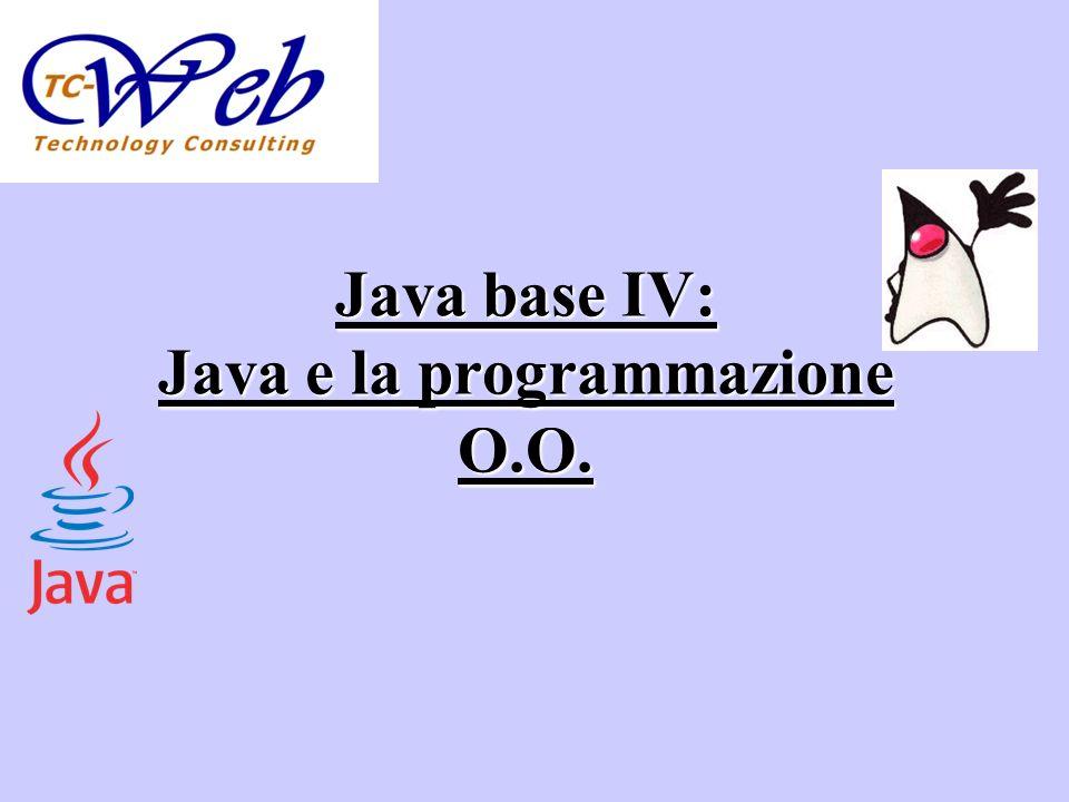 Argomenti Classi e oggetti in Java I metodi I costruttori Principi di programmazione O.O.