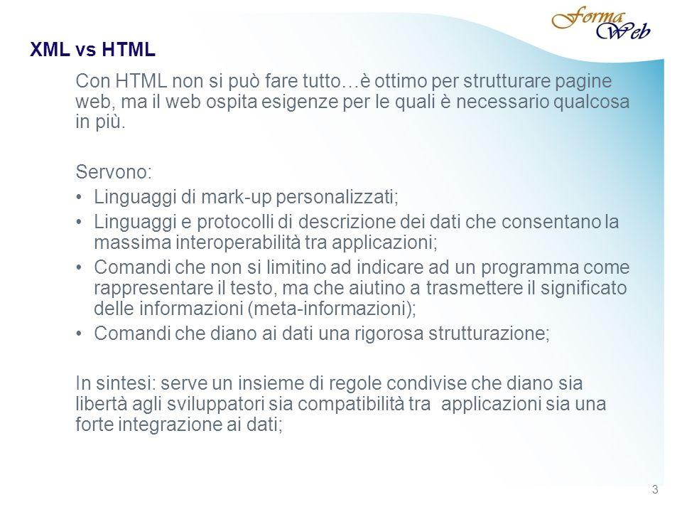 XML – XML SCHEMA 44 Titolo Presentazione / Data / Confidenziale / Elaborazione di...