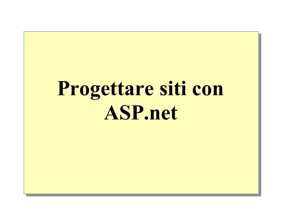 Master page ASP.NET master pages permettono di creare un layout consistente per le pagine di unapplicazione Le Master pages sono formate da almeno due parti, la pagina master e una o più pagie contenute La master page ha unestensione.master con un layout predefinito che può contenere testo statico, elementi HTML, controlli server, etc.