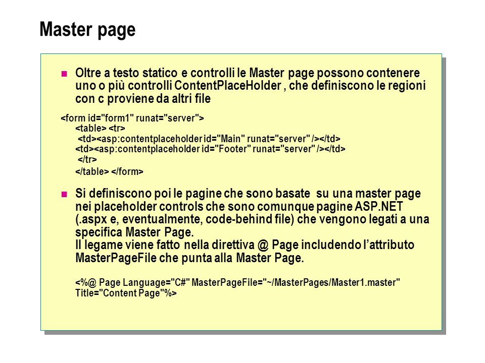 Master page