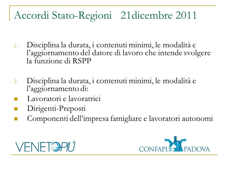 Accordi Stato-Regioni 21dicembre 2011 1.
