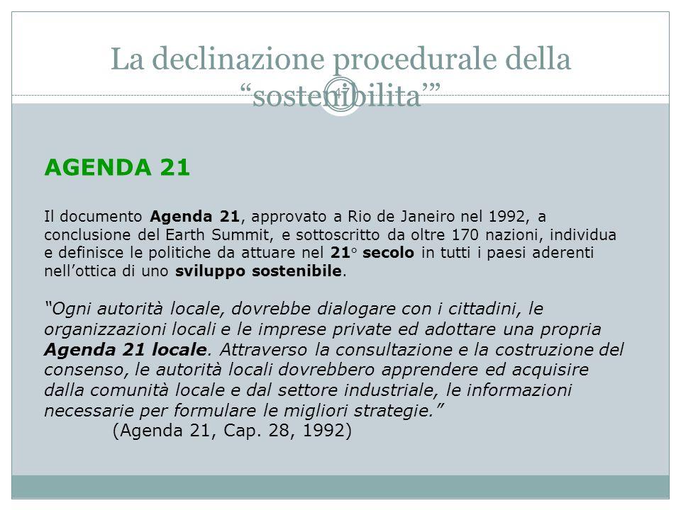 Il concetto di sostenibilita 46 La sostenibilità ambientale è alla base del conseguimento della sostenibilità economica: la seconda non può essere rag