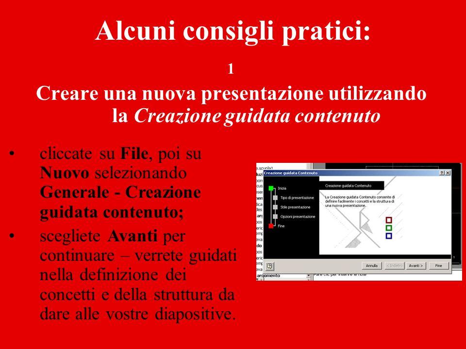 2 Creare una nuova presentazione utilizzando un Modello di struttura da File, selezionate Nuovo e Modelli di struttura.