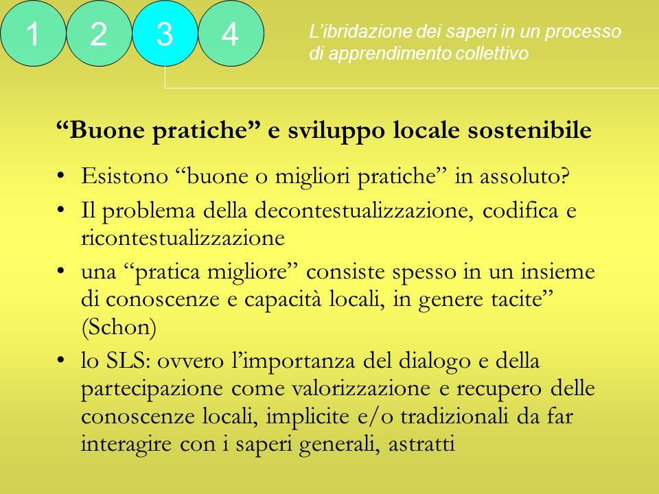 Buone pratiche e sviluppo locale sostenibile Esistono buone o migliori pratiche in assoluto.