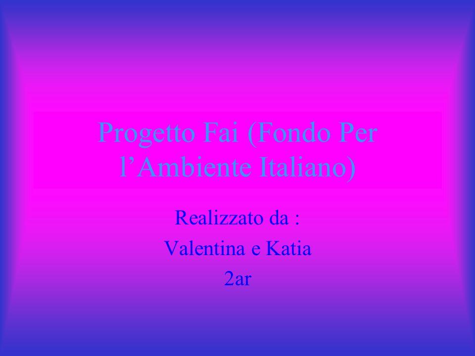 Progetto Fai (Fondo Per lAmbiente Italiano) Realizzato da : Valentina e Katia 2ar