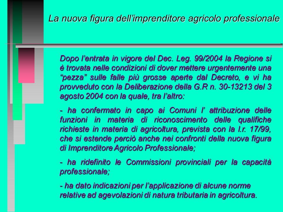 La nuova figura dellimprenditore agricolo professionale Costituzione della Repubblica Italiana, Titolo V Costituzione della Repubblica Italiana, Titol