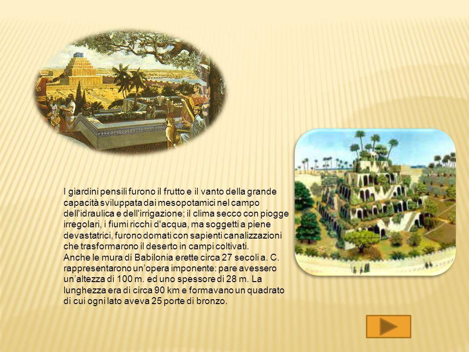 Tutti gli antichi testi dicevano che i giardini pensili di Babilonia erano il solo luogo della città in cui era stata usata la pietra. I giardini pens