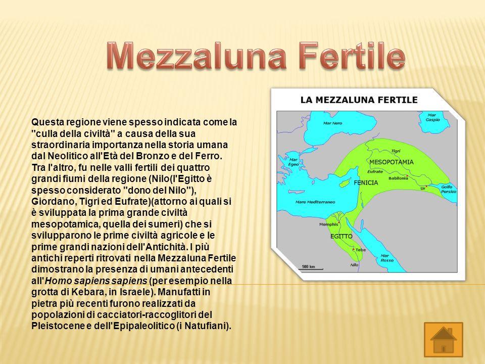 Con il termine Mesopotamia si intende una regione della cosiddetta Mezzaluna Fertile. Il nome la indica come