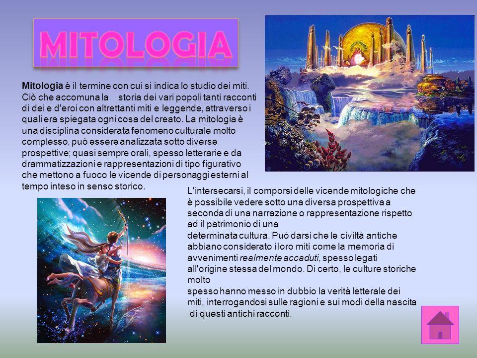 Mitologia è il termine con cui si indica lo studio dei miti.