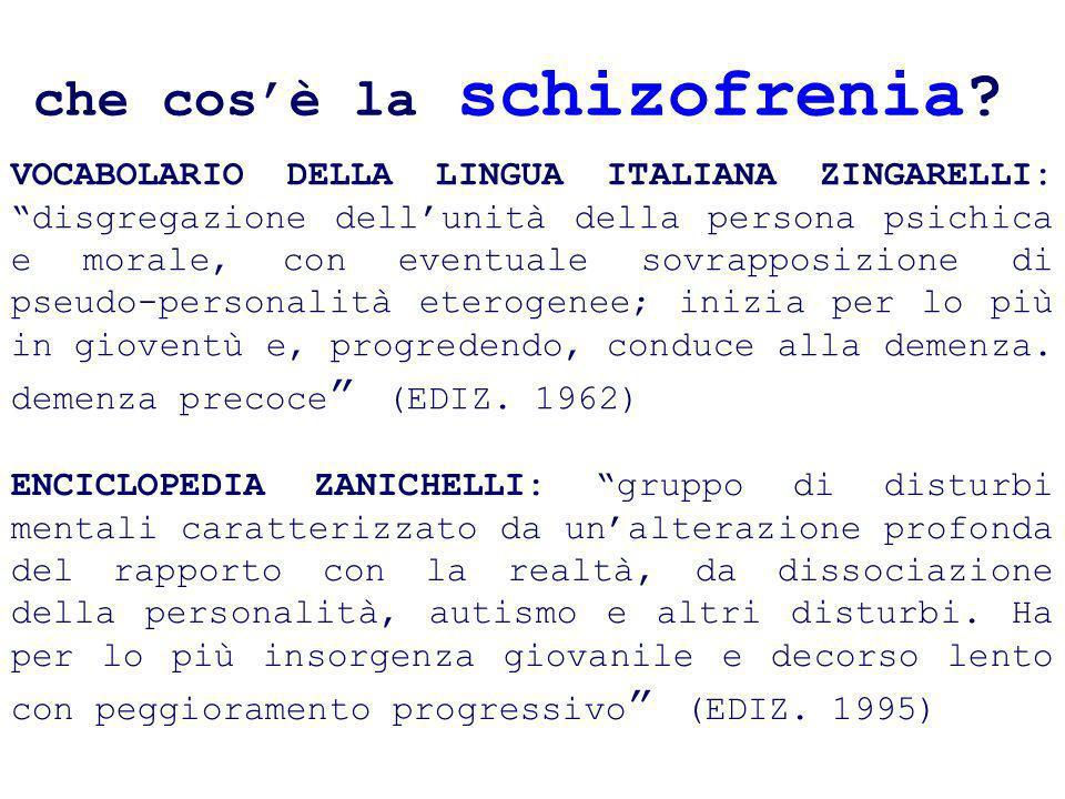 VOCABOLARIO DELLA LINGUA ITALIANA ZINGARELLI: disgregazione dellunità della persona psichica e morale, con eventuale sovrapposizione di pseudo-persona