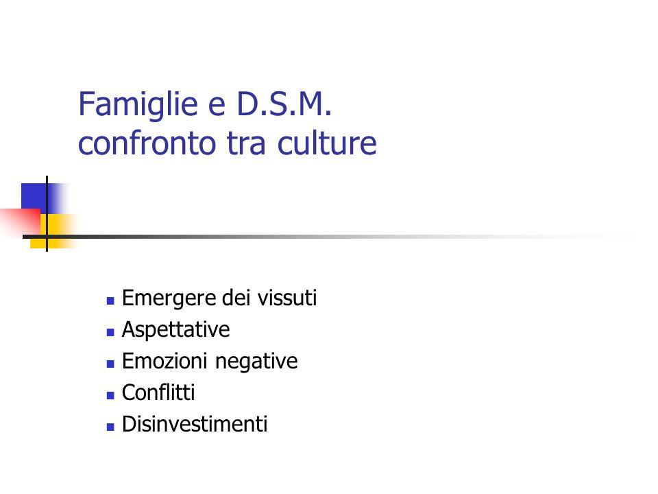 Famiglie e D.S.M.