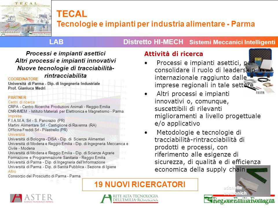 COORDINATORE Università di Parma - Dip.di Ingegneria Industriale Prof.