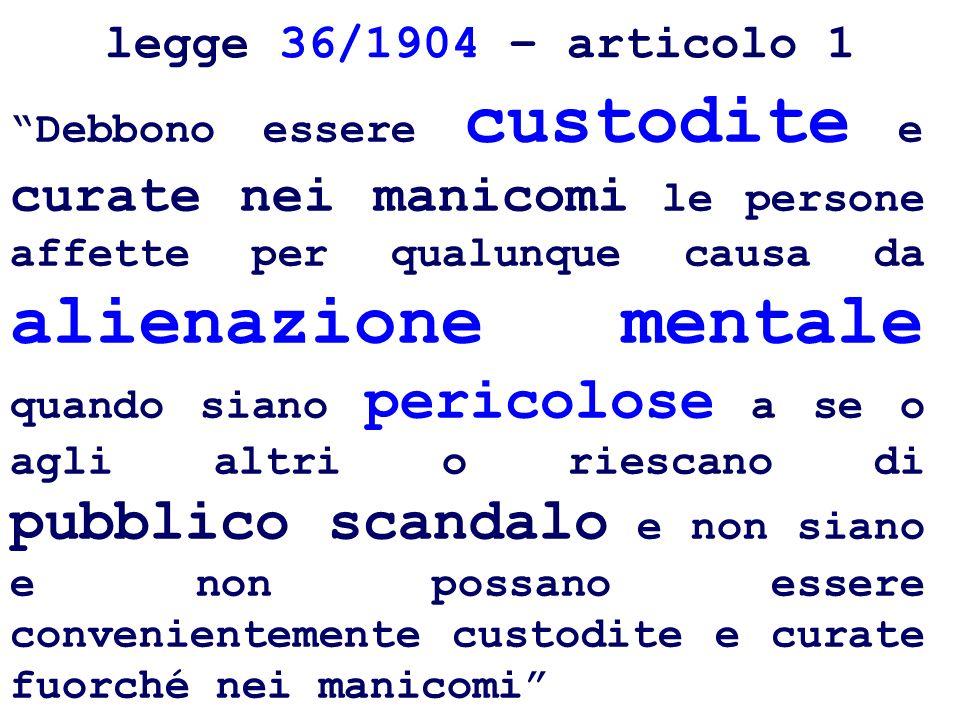 Possibilità di trasformare il ricovero coatto in volontario, previo accertamento del consenso della persona legge Mariotti (431/1968) Conseguenze operative: - trasformazioni allinterno dellO.P.