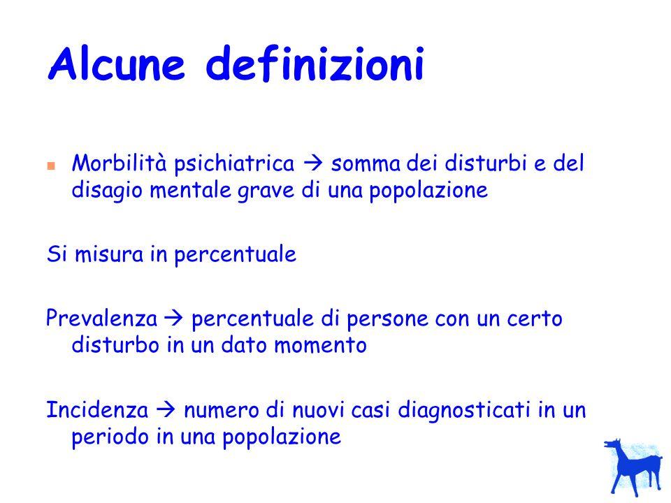 Tasso numero di persone affette da un disturbo o che presentano una determinata caratteristica, per unità di popolazione, per unità di tempo (es.