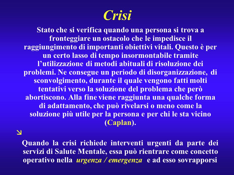 Trieste : Emergenze e CSM territoriali Centralità del servizio territoriale perché così si valorizza non solo la dimensione individuale, ma la dimensione di contesto che nellemergenza risulta particolarmente sinificativa
