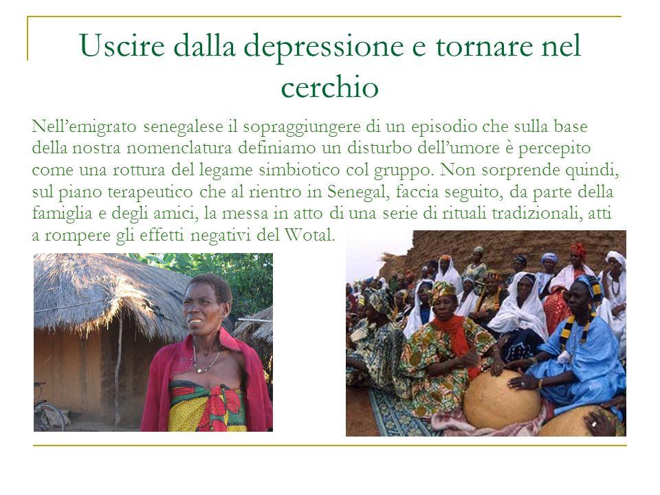 Uscire dalla depressione e tornare nel cerchio Nellemigrato senegalese il sopraggiungere di un episodio che sulla base della nostra nomenclatura defin