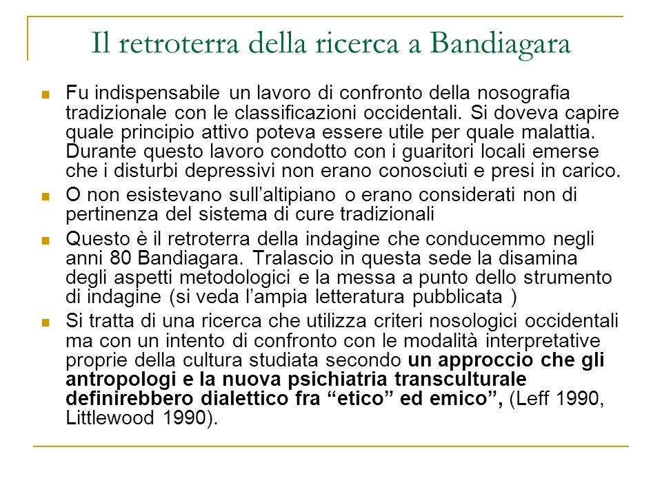 Il retroterra della ricerca a Bandiagara Fu indispensabile un lavoro di confronto della nosografia tradizionale con le classificazioni occidentali. Si