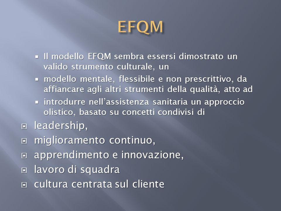 Il modello EFQM sembra essersi dimostrato un valido strumento culturale, un Il modello EFQM sembra essersi dimostrato un valido strumento culturale, u