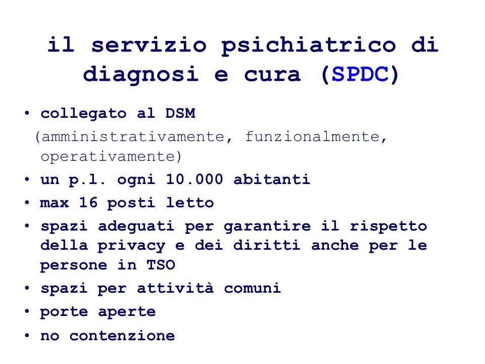 collegato al DSM (amministrativamente, funzionalmente, operativamente) un p.l.