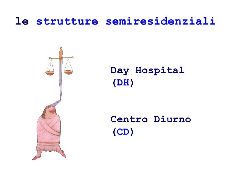 le strutture semiresidenziali Day Hospital (DH) Centro Diurno (CD)