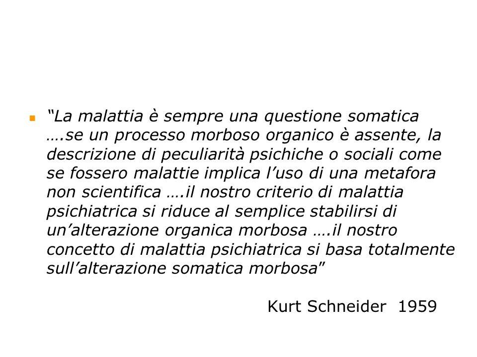 XX secolo - Indirizzo organicista manicomiale Perfezionamento del paradigma manicomiale ….