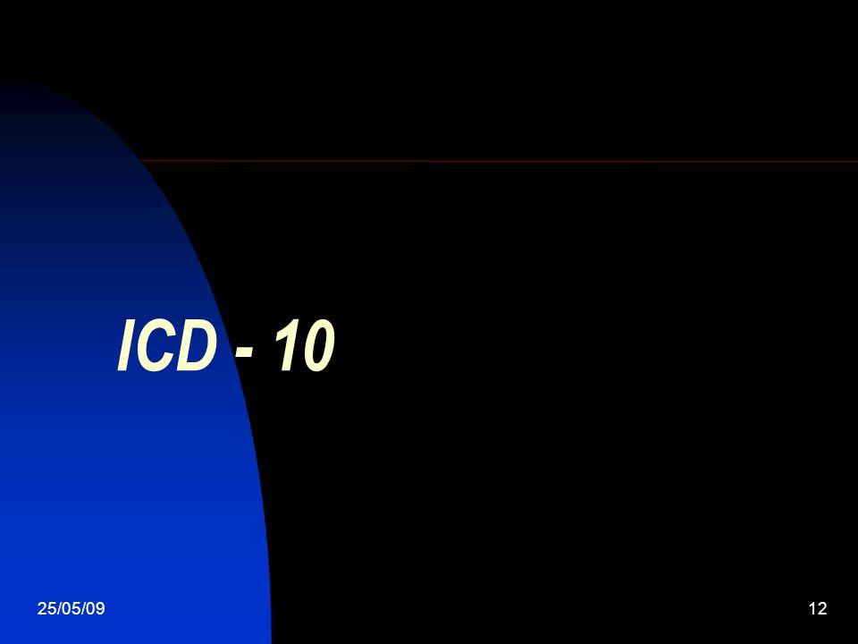 25/05/0912 ICD - 10