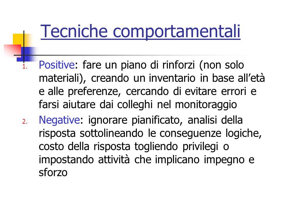 Tecniche comportamentali 1.