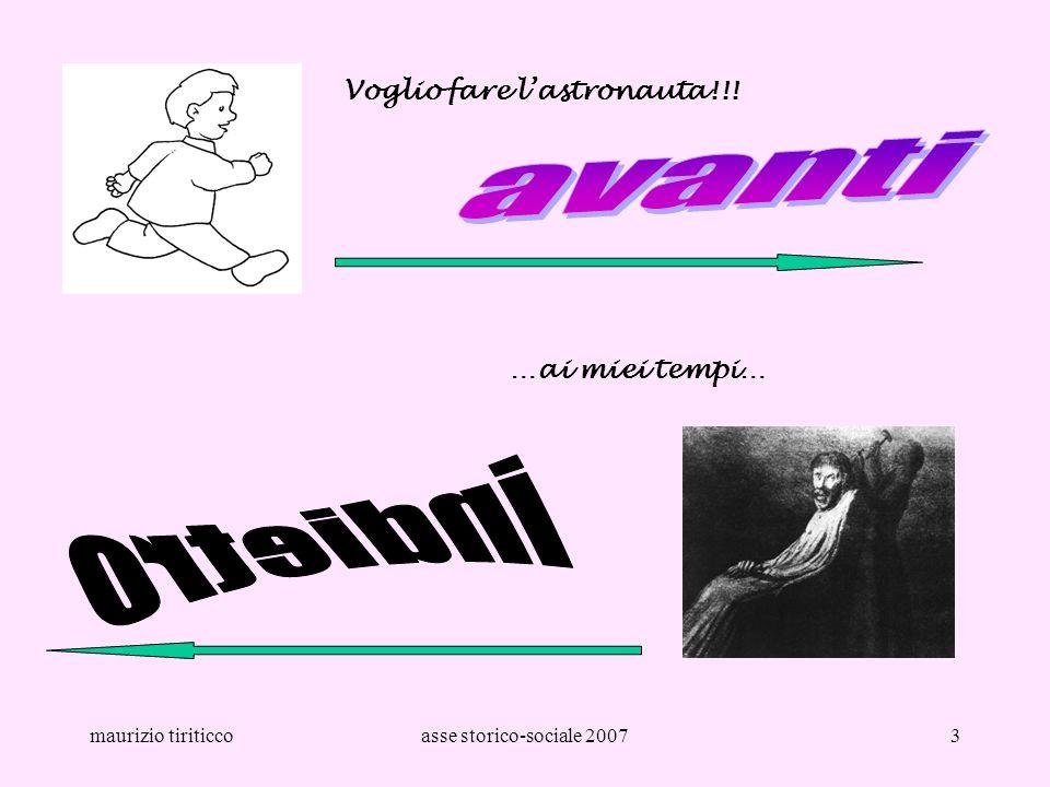 maurizio tiriticcoasse storico-sociale 20073 Voglio fare lastronauta!!! …ai miei tempi…
