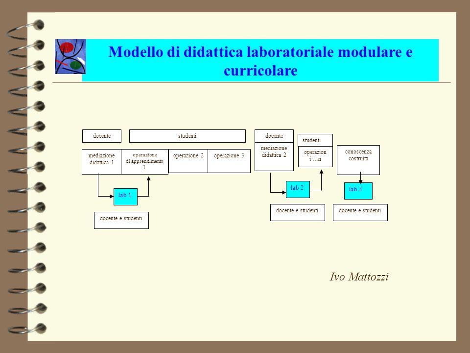 mediazione didattica 1 operazione di apprendimento 1 operazione 2operazione 3 mediazione didattica 2 operazion i …n conoscenza costruita lab 1 lab 2 l