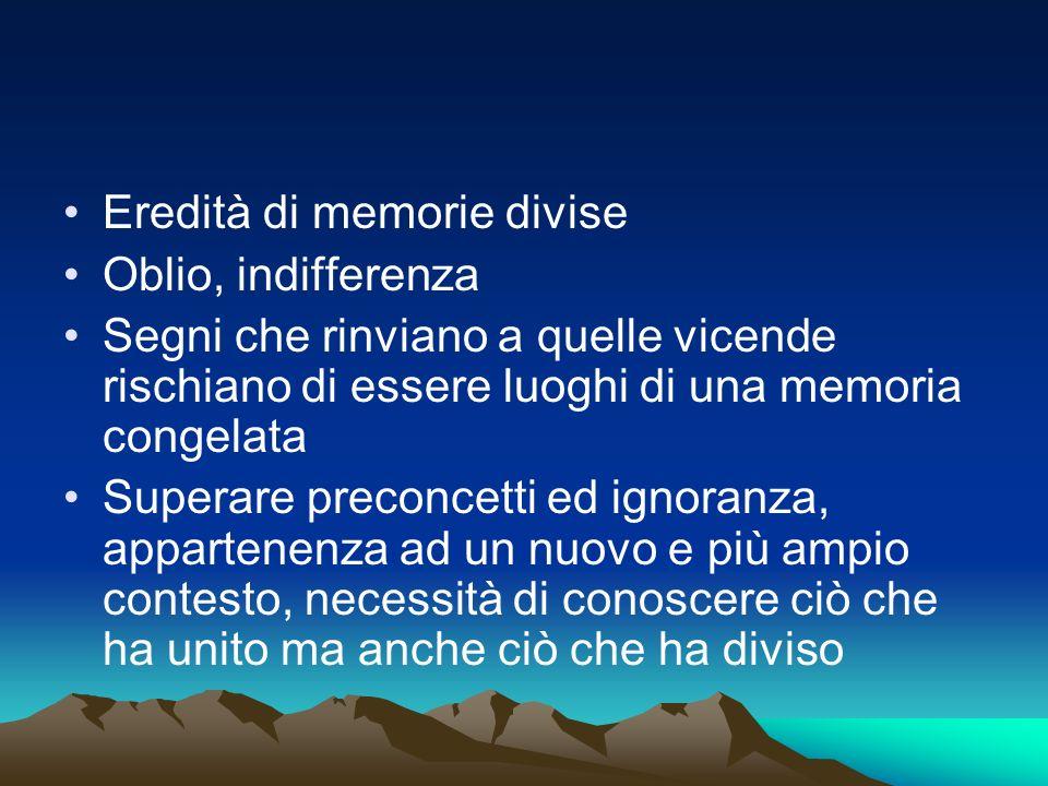 Il portale del progetto La memoria delle Alpi www.memoriadellealpi.net