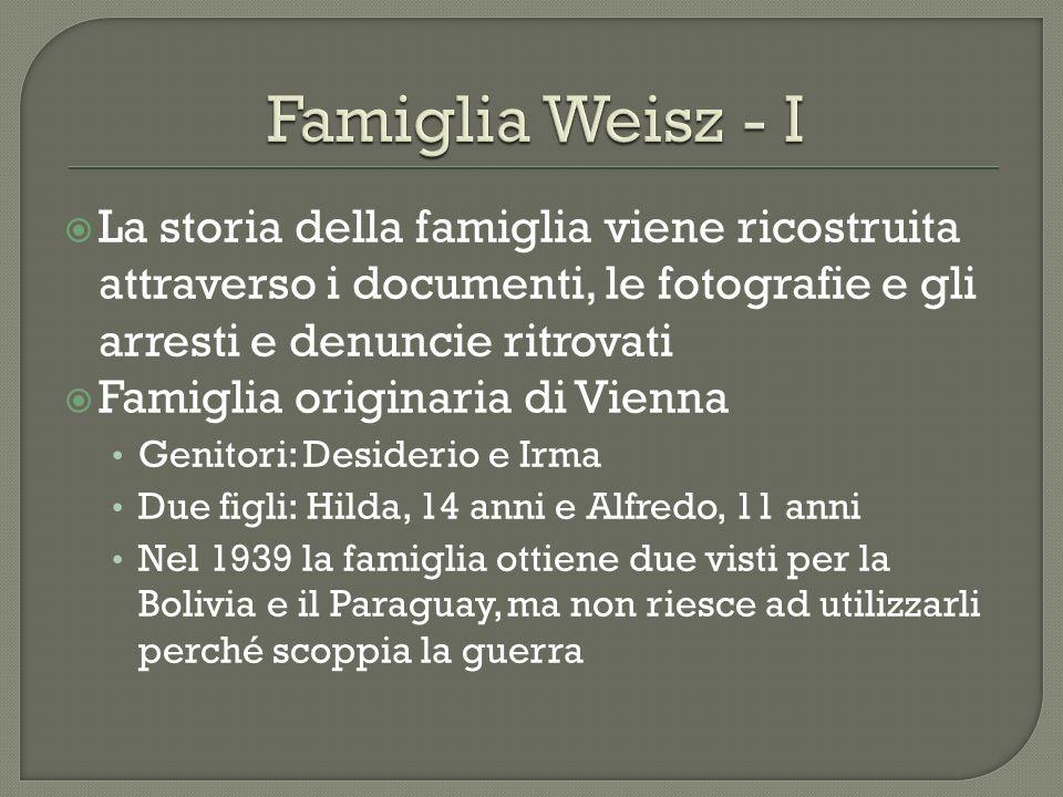 La storia della famiglia viene ricostruita attraverso i documenti, le fotografie e gli arresti e denuncie ritrovati Famiglia originaria di Vienna Geni