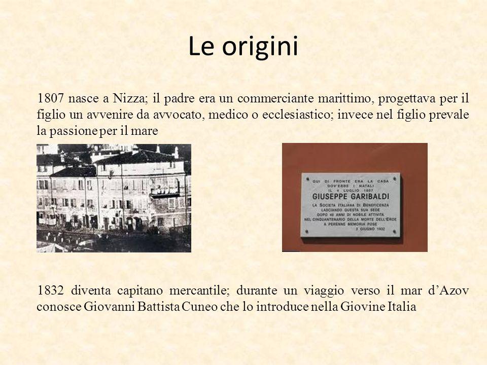 Le origini 1807 nasce a Nizza; il padre era un commerciante marittimo, progettava per il figlio un avvenire da avvocato, medico o ecclesiastico; invec