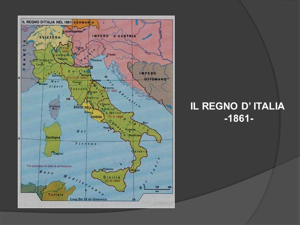 IL REGNO D ITALIA -1861-