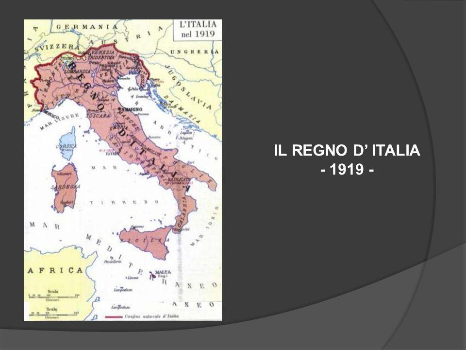 IL REGNO D ITALIA - 1919 -