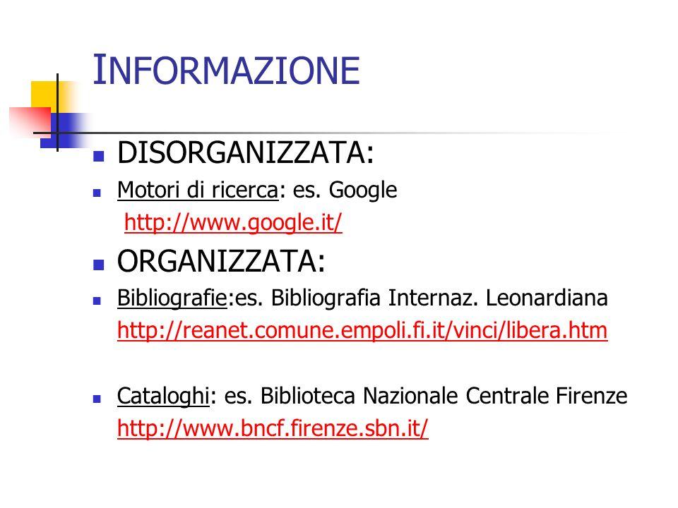 OPERATORI LOGICI Motori di ricerca : http://www.google.it/advanced_search?hl=it Cataloghi: Librinlinea: http://sbnweb.csi.it:8092/CIC/BASIS/opacx/udmopac /esimplex/sf Catalogo SBN nazionale: http://opac.sbn.it/cgi- bin/IccuForm.pl?form=WebFrame