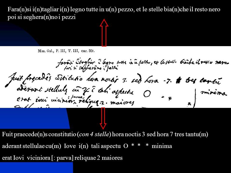 7 Fara(n)si i(n)tagliar i(n) legno tutte in u(n) pezzo, et le stelle bia(n)che il resto nero poi si seghera(n)no i pezzi Fuit praecede(n)s constitutio