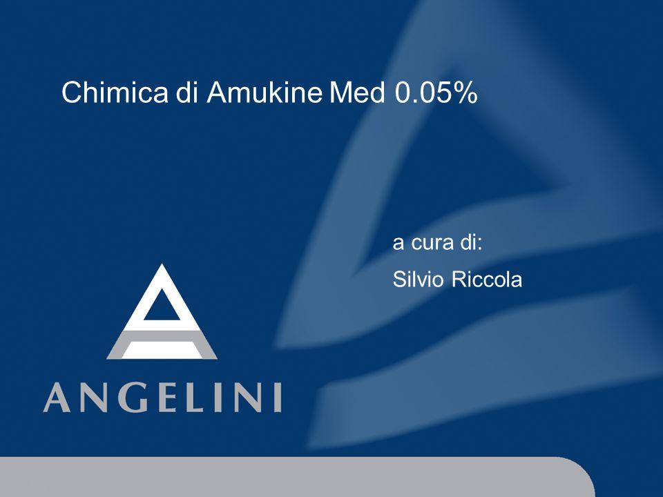 Cosè Amukine Med 0.05% s Soluzione ottenuta tramite un procedimento elettrochimico (elettrolisi di soluzione satura di cloruro di sodio) controllato e standardizzato 1.