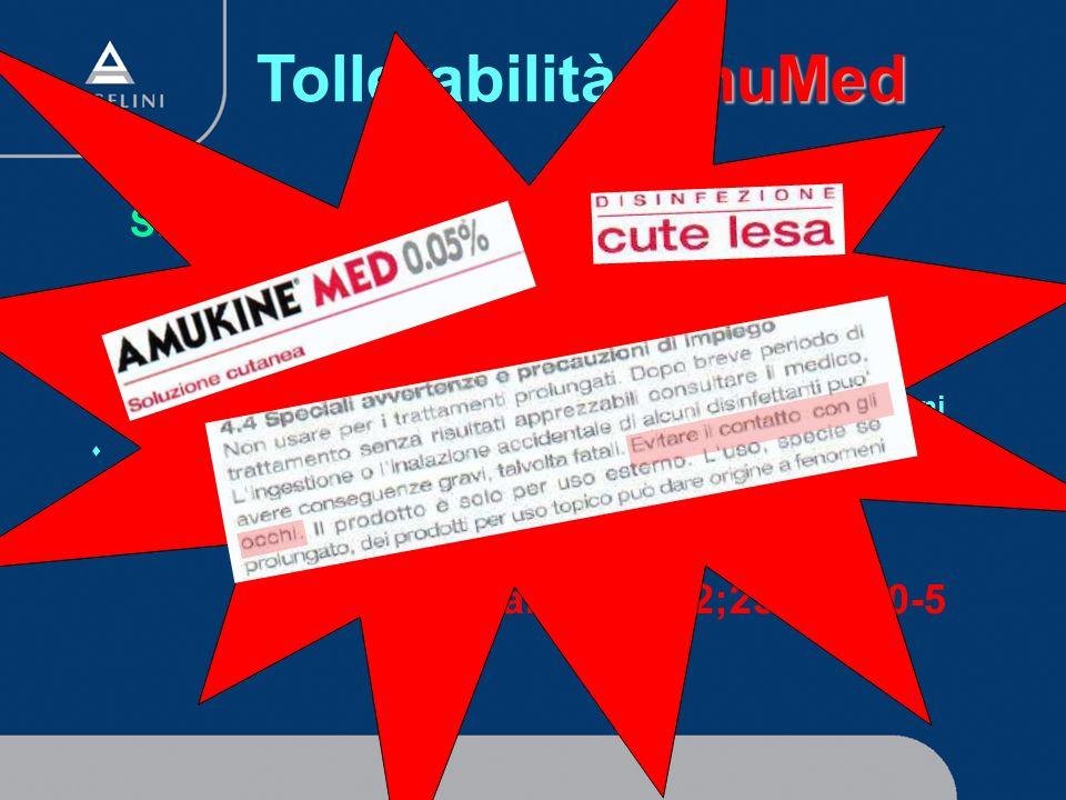 AmuMed Tollerabilità AmuMed Studio Tollerabilità Oculare Irrigazione congiuntivale con Amukine Med 0.05% oppurecon Betadine 5% s 107 pazienti trattati