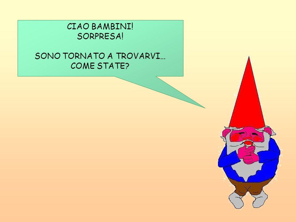 CIAO BAMBINI! SORPRESA! SONO TORNATO A TROVARVI… COME STATE?