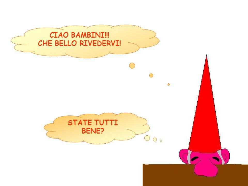 CIAO BAMBINI!!! CHE BELLO RIVEDERVI! STATE TUTTI BENE?