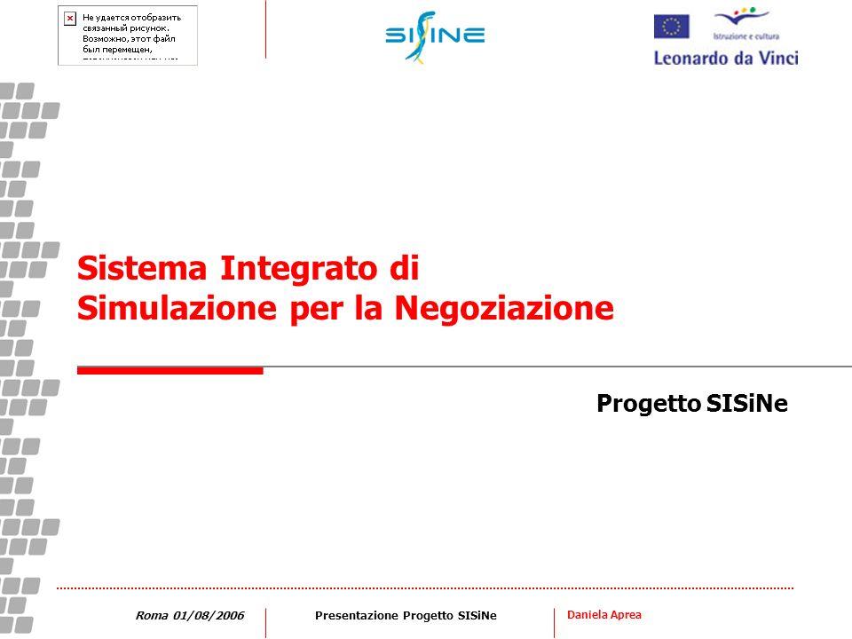 Daniela Aprea Roma 01/08/2006Presentazione Progetto SISiNe Progetto SISiNe Sistema Integrato di Simulazione per la Negoziazione