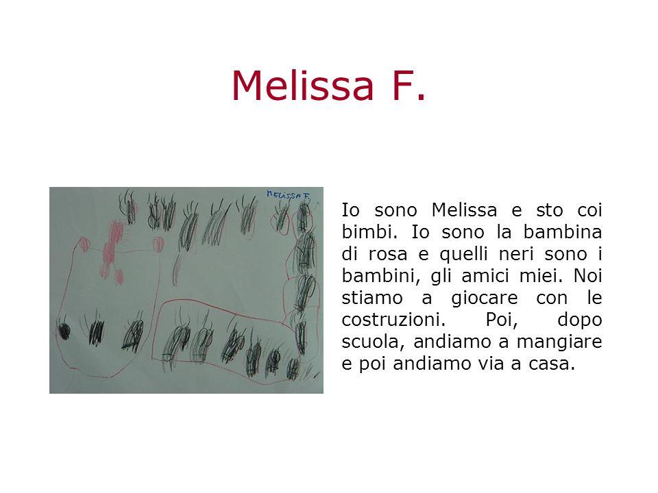 Melissa F.Io sono Melissa e sto coi bimbi.
