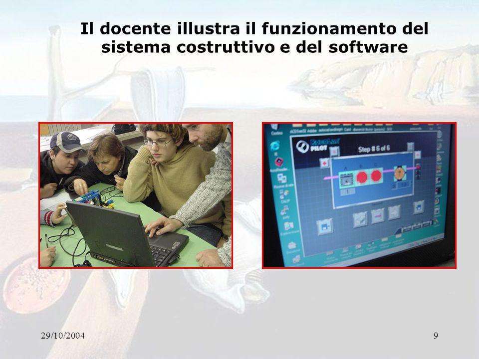 29/10/200410 Sperimentazione diretta da parte degli alunni