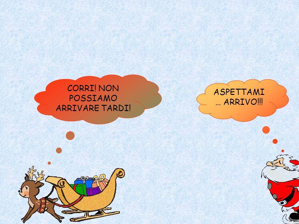 CORRI! NON POSSIAMO ARRIVARE TARDI! ASPETTAMI … ARRIVO!!!