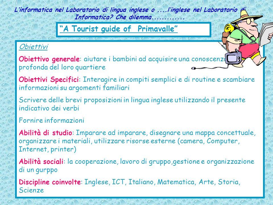 Linformatica nel Laboratorio di lingua inglese o....linglese nel Laboratorio di Informatica? Che dilemma............. A Tourist guide of Primavalle Ob