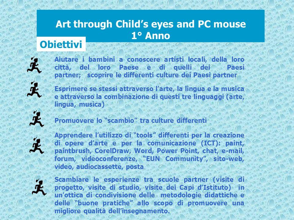 Art through Childs eyes and PC mouse 1° Anno Obiettivi Apprendere lutilizzo di tools differenti per la creazione di opere darte e per la comunicazione