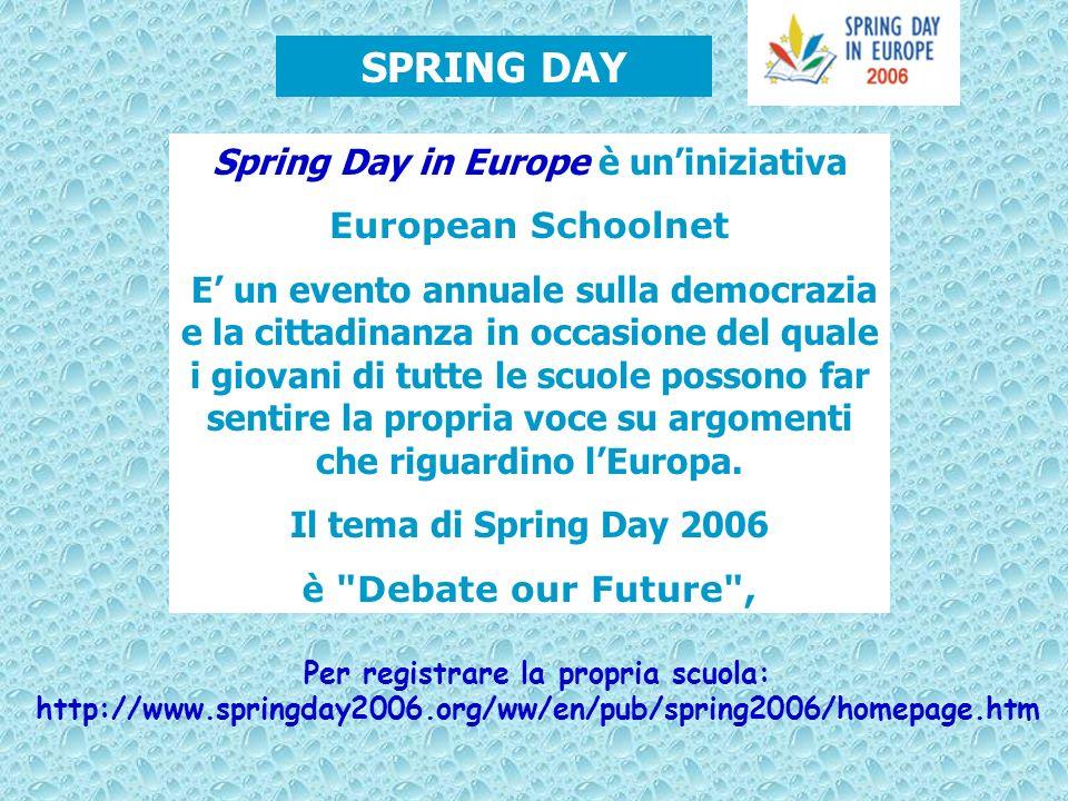 Spring Day in Europe è uniniziativa European Schoolnet E un evento annuale sulla democrazia e la cittadinanza in occasione del quale i giovani di tutt