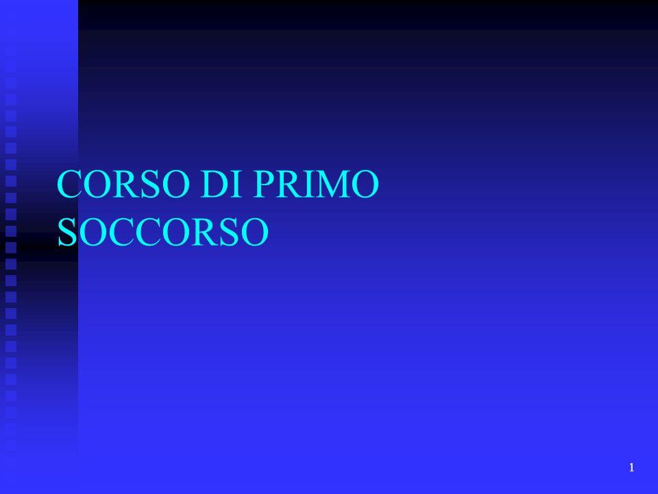 1 CORSO DI PRIMO SOCCORSO