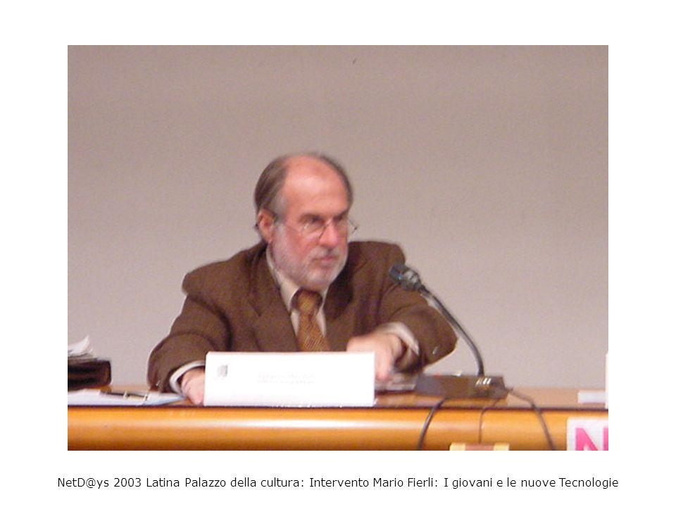 NetD@ys 2003 Latina Palazzo della cultura: Intervento Claudio Castelli: Narnia ed i Mondi Virtuali